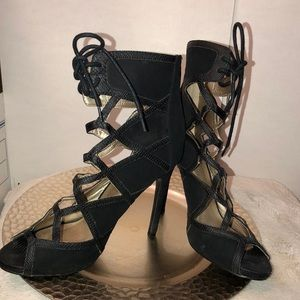 Qupid Shoes - Women's Laser and ankle tie shoes